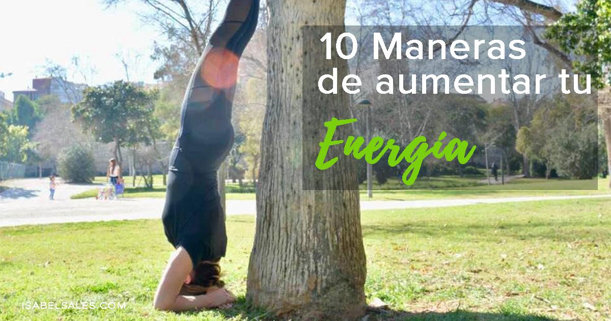 10 maneras aumentar energia